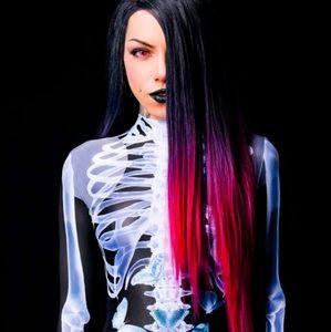 Badinka Glow In Dark XRay Skeleton Bodysuit Medium